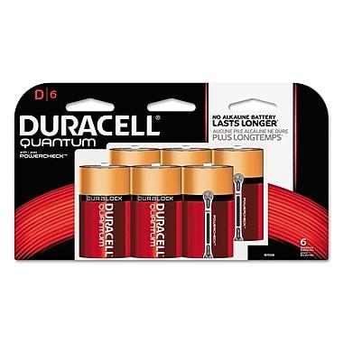 Duracell® Quantum Alkaline Batteries with Duralock Power Preserve™ Technology, D, 36/Carton (DURQUD6TBCD)