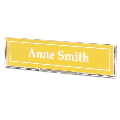 Superior Image Cubicle Sign Holder, 8 1/2 x 2, Clear
