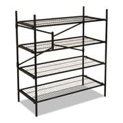 """Cosco® Instant Storage Shelving Unit, 4-Shelf, 47 3/4"""", Black (66714BLK1E)"""