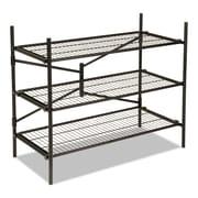 """Cosco® Instant Storage Shelving Unit, 3-Shelf, 35 3/4"""", Black (66713BLK1E)"""