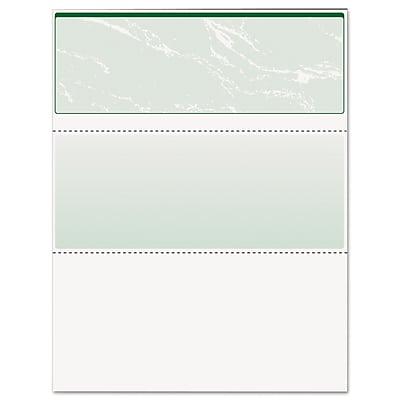 DocuGard™ Security Business Checks, 8 1/2 x 11, Green Marble, 500/Ream (04502)