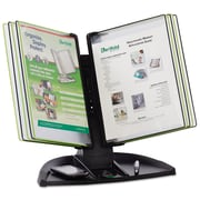 Tarifold, Inc., Modular Reference Display Black Line Desk Set, 10 Wire-Reinforced Pockets, Each (TDBL291)