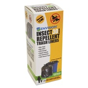 Stout® Insect-Repellent Trash Bags Trash Bags, 1.3 mil Thickness, Black, 33 gal, 10/Carton (P3340K13R)