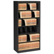 Tennsco Fixed Shelf Lateral File, 5 Drawer(s)5-Shelf, Black, Legal; Letter (FS360BL)