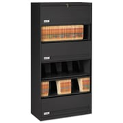 Tennsco Fixed Shelf Lateral File, 5 Drawer(s)5-Shelf, Black, Legal; Letter (FS361LBL)