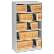 Tennsco Fixed Shelf Lateral File, 5 Drawer(s)5-Shelf, Light Gray, Legal; Letter (FS350LGY)
