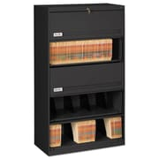 Tennsco Fixed Shelf Lateral File, 5 Drawer(s)5-Shelf, Black, Legal; Letter (FS351LBL)