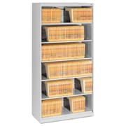 Tennsco Fixed Shelf Lateral File, 5 Drawer(s)5-Shelf, Light Gray, Legal; Letter (FS360LGY)