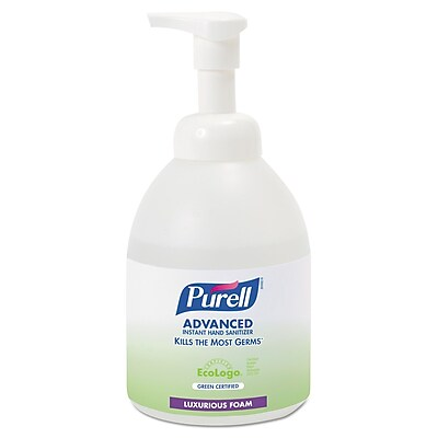 Purell Advanced Green Certified Instant Hand Sanitizer Foam, Unscented, 535 mL, Each (5791-04)