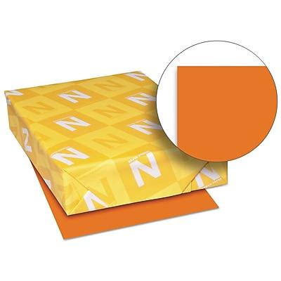 Neenah Paper Exact® Brights Paper, 8 1/2 x 11, Bright Tangerine, 500/Ream (26731)