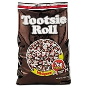 Tootsie Rolls Midgees Chewy, Chocolate, 80 Oz. (42278)