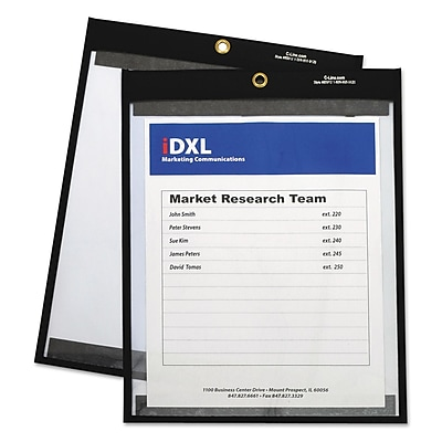 Magnetic Stitched Shop Ticket Holders, Clear, 12 x 9, 25/Bx