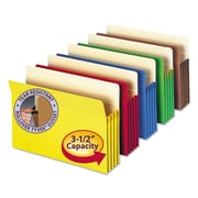 Smead® Colored File Pockets, Assorted, Legal, 5/Pack (74892)