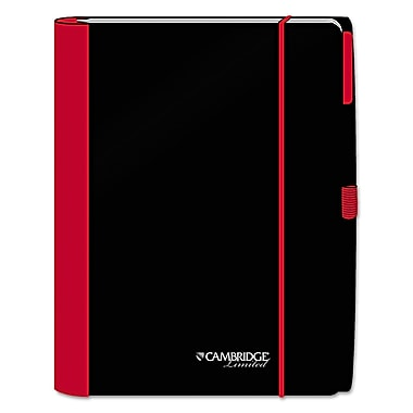 Cambridge Accents Notebook, Black/Red, 1-Subjects, 10 x 11 1/4, Each (06336)