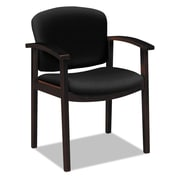 HON® 2111 Invitation® Reception Series Wood Guest Chair, 100% Olefin, Wide Sloping, Black (HON2111NCU10)