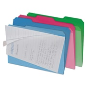 find It™ Clear View Interior File Folders, Letter, Assorted, 6/Pack (FT07187)