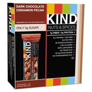 KIND Nuts and Spices Bar, Dark Chocolate Cinnamon Pecan, Snack Bar, 1.4 oz (17852)