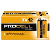 Duracell® Procell® Alkaline Batteries, 9V, 12/Box (PC1604BKD)