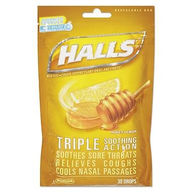 Halls® Triple Action Cough Drops, 4/Box (312546628694)