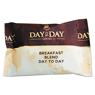 Day to Day Coffee® 100% Pure Coffee, Breakfast Blend, 1.5 oz., 42/Carton (PCO23003)