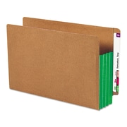 Smead® Redrope Drop-Front End Tab File Pockets with Colored Tyvek® Gussets, Green, Legal, 10/Each (74680)