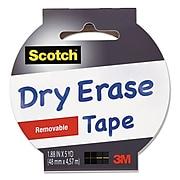 """Scotch™ Dry EraseTape, 1.88"""" x 5 yds. (1905R-DE-WHT)"""