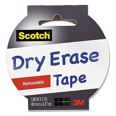 Scotch® Dry Erase Tape, 1.88