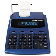 Victor® 1225-3A Antimicrobial Two-Color Printing Calculator, Blue; Red (1225-3A)