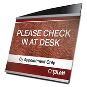 "deflecto® Interior Image® Sign Holder, Acrylic, 10 3/8"" x 9 7/16"", Each (DEF89102)"