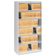 Tennsco Fixed Shelf Lateral File, 5 Drawer(s)5-Shelf, Light Gray, Legal; Letter (FS361LLGY)