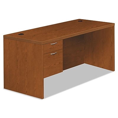 HON®, Valido 11500 Series Left Pedestal Desk, 66w x 30d x 29 1/2h, Bourbon Cherry, High-Pressure Laminate (HON11584LACHH)