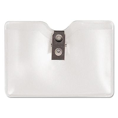 Advantus Security ID Badge Holders, Clear, 3 1/2