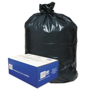 Classic Linear Low-Density Can Liners Trash Bags, 0.63 mil Thickness, Black, 45 gal, 250/Carton (WEBB48)