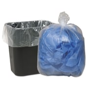 Classic Clear Linear Low-Density Can Liners Trash Bags, 0.6 mil Thickness, Clear, 16 gal, 500/Carton (WBI243115C)