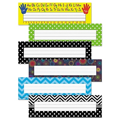 Teacher Created Resources Nameplate Set, Classroom Aids-Classroom Management, 1/Set (TCR9939)