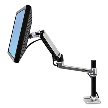 "Ergotron® LX Series LCD Arm, 11 1/4"" x 7 1/4"" x 31 3/4"", Polished Aluminum/Black (45295026)"