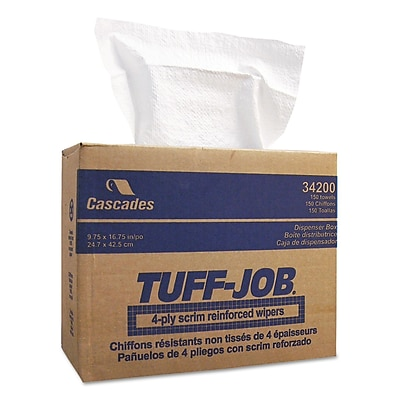 Cascade Tuff-Job® Scrim Reinforced Wipers, 9 3/4