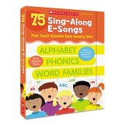Scholastic Sing-Along E-Songs, Reference Books, Reading, Grades Pre K-2, Each (565262)