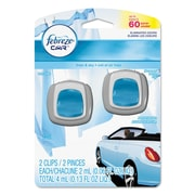 Febreze® Car Vent Clips, .13 oz, Linen & Sky®, 8/Carton (10037000811319)