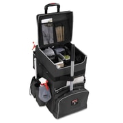 "Rubbermaid® Commercial Executive Quick Cart, Aluminum/Polyester, 14 1/4"" x 16 1/2"" x 25"", Dark Gray (1902465)"