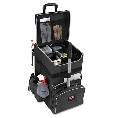 Rubbermaid® Commercial Executive Quick Cart, Aluminum/Polyester, 14 1/4