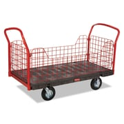 Rubbermaid® Commercial Side Panel Platform Truck, 2,000 lbs. Capaity, Black/Red, Each (4488)