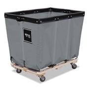 "Royal Basket Trucks Permanent Liner Handling Cart, Steel/Vinyl/Wood/Rubber, 28"" x 40"" x 36 1/2"", Gray (R16GGPMA3UN)"