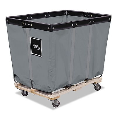 Royal Basket Trucks Permanent Liner Handling Cart, Steel/Vinyl/Wood/Rubber, 28