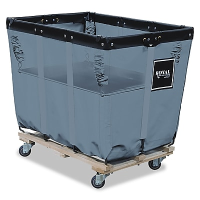 Royal Basket Trucks Spring Lift, Steel/Vinyl, Multi-purpose Cart, Gray (R16GGXSLN)