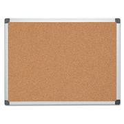 "MasterVision® Value Cork Bulletin Board with Aluminum Frame, 36"" x 48""Silver (CA051170)"