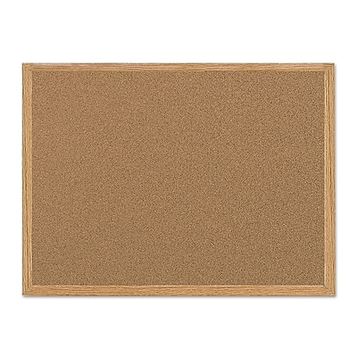MasterVision® Value Cork Board with Oak Frame, 24