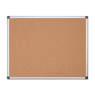 MasterVision® Value Cork Bulletin Board with Aluminum Frame, 48