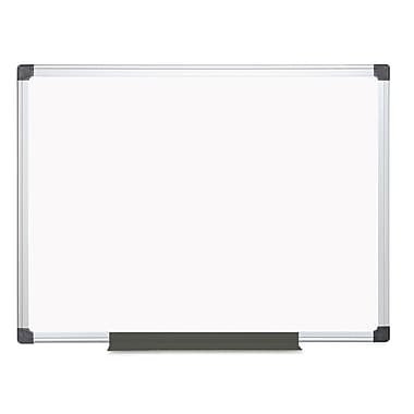 MasterVision® Value Lacquered Steel Magnetic Dry Erase Board, White, 36