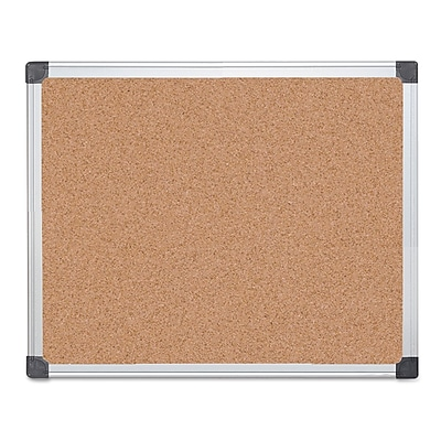 MasterVision® Value Cork Bulletin Board with Aluminum Frame, 24